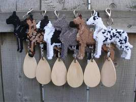 Great Dane crate tag or hang anywhere, hand stitched dog, choose from 6 ... - $24.00