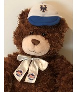 "Build a Bear BABW NY Mets Baseball MLB Teddy Bear Plush 13"" Stuffed Anim... - $19.99"