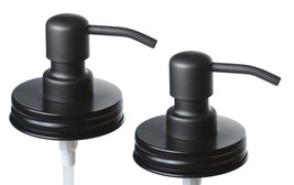 Jarmazing Products Black Mason Jar Soap Dispenser Lids - Two Pack – Made... - $18.61