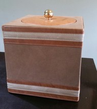 Table Top Faux Brown Leather Ice Bucket - €8,42 EUR