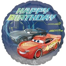Disney Cars Happy Birthday Foil Mylar Balloon 1 Per Package Party Supplies - $3.22