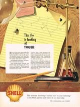 Vintage 1942 Magazine Ad Shell Oil Scientific Knowledge Carries Over To Motoring - $5.93