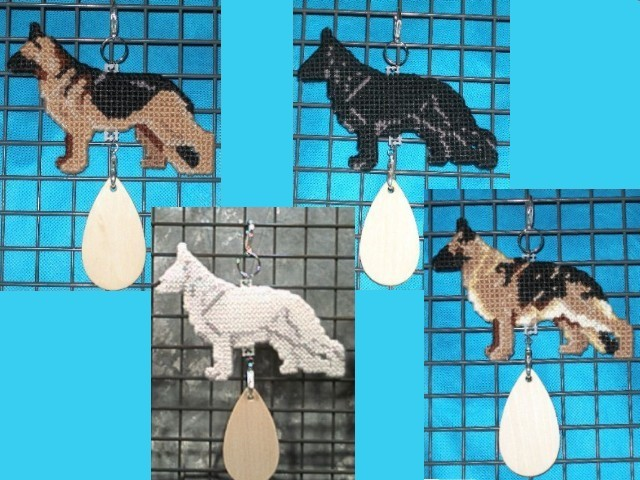 German Shepherd Dog crate tag or hang anywhere, Alsatian, multiple colors avail.