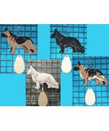 German Shepherd Dog crate tag or hang anywhere, Alsatian, multiple color... - $27.00
