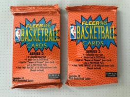 1994-95 Fleer Basketball Series 2 Two Pack Lot 18 Cards Per Pack - $6.88