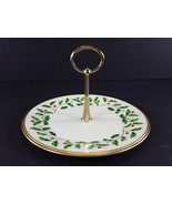 "LENOX China Holiday Dimension Round Tidbit Plate with Handle 8-1/4"" Dinn... - $19.79"