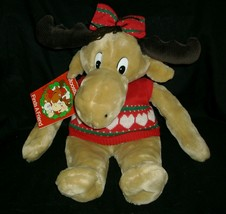 HOLLY VINTAGE 1987 COMMONWEALTH CHRISTMAS MOOSTLETOE STUFFED ANIMAL PLUS... - $41.23