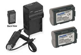 2 Batteries + Charger for Panasonic CGR-S602 CGR-S602A CGR-S602A/1B CGR-S602E/1B - $26.60