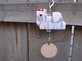 Maltese crate tag or hang anywhere, handmade dog, choose from 8 hairband... - $15.00