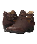 NIB JAMBU JBU boots booties 7 37 ankle brown vegan suede & leather memor... - $58.19