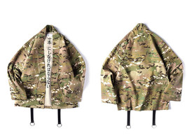 GONTHWID Japanese Camo Kimono Jackets Japan Style Mens Hip Hop Camouflag... - $65.58