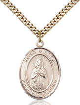 14K Gold Filled O/L ROSA MYSTICA Pendant 1 x 3/4 inch with 24 inch Chain - $142.59