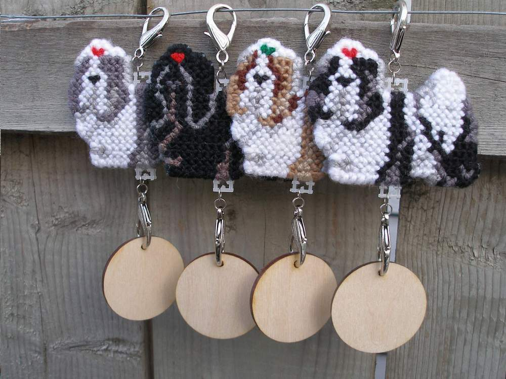 Shih Tzu crate tag or hang anywhere art, dog color & 8 hairband color options