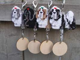 Shih Tzu crate tag or hang anywhere art, dog co... - $18.00