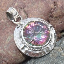 MYSTIC QUARTZ Silver Pendant/925 Silver Pendant/Handmade Pendant/Beautif... - $32.00