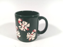 Waechtersbach Vintage Holiday Mug Embossed Candy Cane Enamel Made In W G... - $17.81