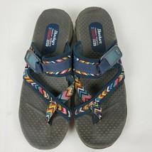 Skechers Women's Reggae-Mad Swag-Toe Thong Woven Sandal Navy Size 10 - $21.38