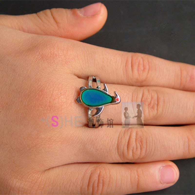 Buy Fine Jewelry penguin Mood Ring Temperature Ring Change Color Rings for Women