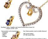 Amethyst citrine sapphire and garnet pendant heart charm set thumb155 crop