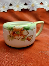 "Hand-painted Nippon Sugar Bowl Missing Lid 3"" wide (not including arm) x 2"" tall image 1"