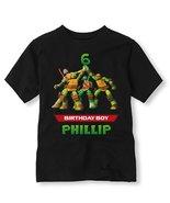 Teenage Mutant Ninja Turtles Birthday Shirt, Personalized Ninja Turtle B... - $11.99