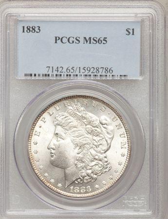 1883  1 ms65 pcgs obverse holder