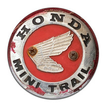 Honda Mini Trail Wings Badge Rusted Weathered Round MDF Wood Sign - $29.65
