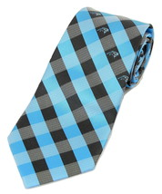 Carolina Panthers Checks Mens Necktie NFL Football Team Neck Tie Sports ... - $32.95