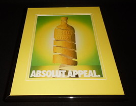 1992 Absolut Citron Appeal Framed 11x14 ORIGINAL Advertisement - $34.64