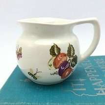 Vintage Ceramic Creamer by Georges Briard - Fruits and Butterflies Pattern - $24.49