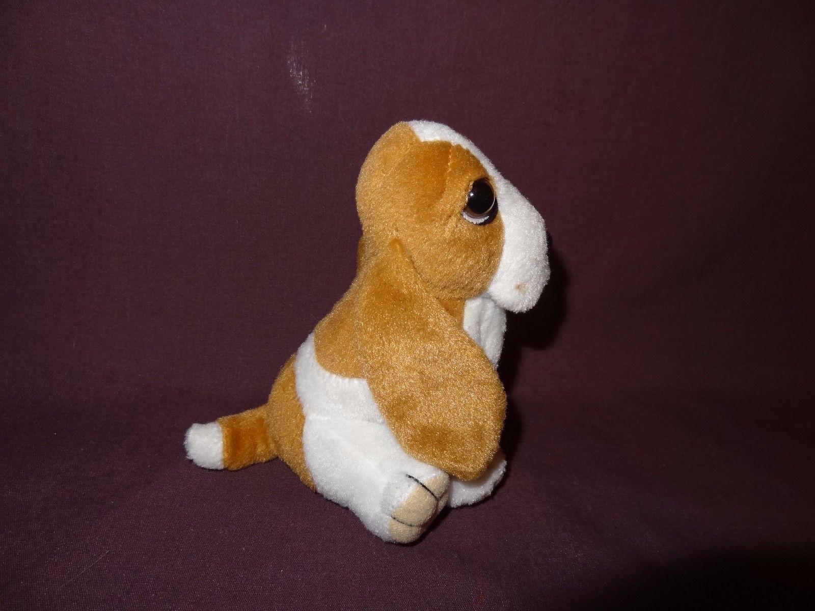 Hush Puppies Dog Plush Stuffed Animal Toy 5 inch Toys Brown White