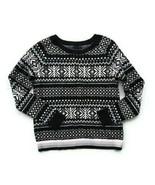 Tommy Hilfiger womens blue winter snowflake wool blend crew neck sweater... - $29.69