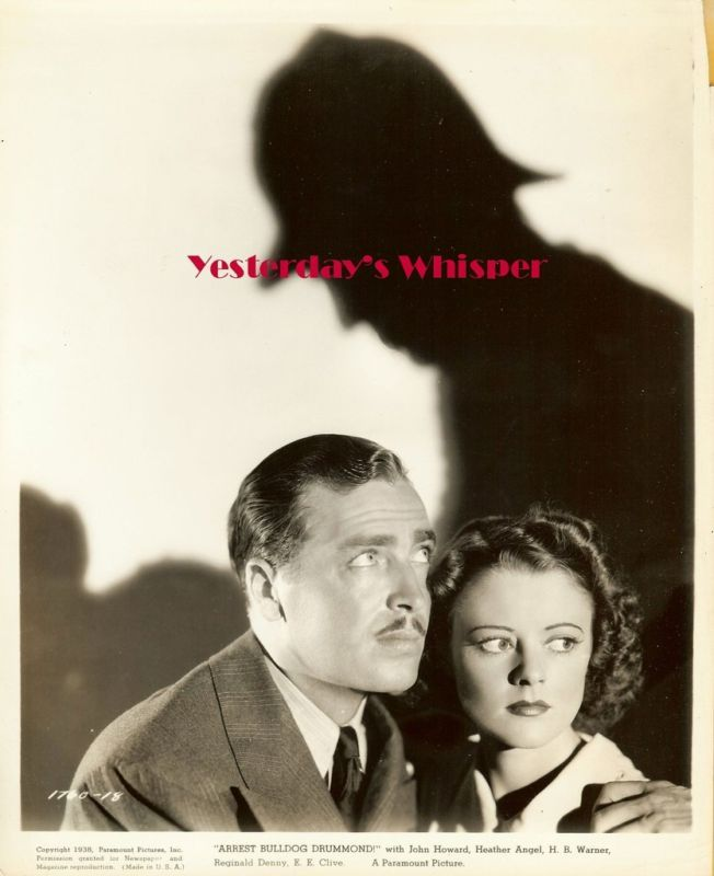 Heather Angel Bulldog Drummond Vintage 1930s Film Photo