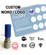 Custom Logo Loyalty card Self inking Stamp for business SHOP BAR CAFE RE... - $5.99