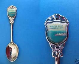 THUNDER BAY Ontario Souvenir Collector Spoon Collectible FERRY SHIP - $5.95