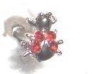 3D Tongue Ring/Barbell - Jeweled Bug   Bonanza
