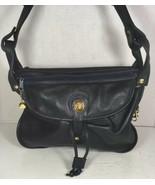 Brio Vintage Large Soft Blue Leather Multi Pocket Shoulder Bag - $63.04