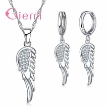 Hot Angle Wing Wedding Jewelry Sets For Women Unique 925 Sterling Silver... - $12.76