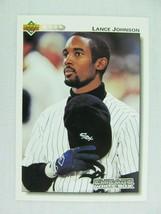 Lance Johnson Chicago White Sox 1992 Upper Deck Baseball Card 188 - $0.98