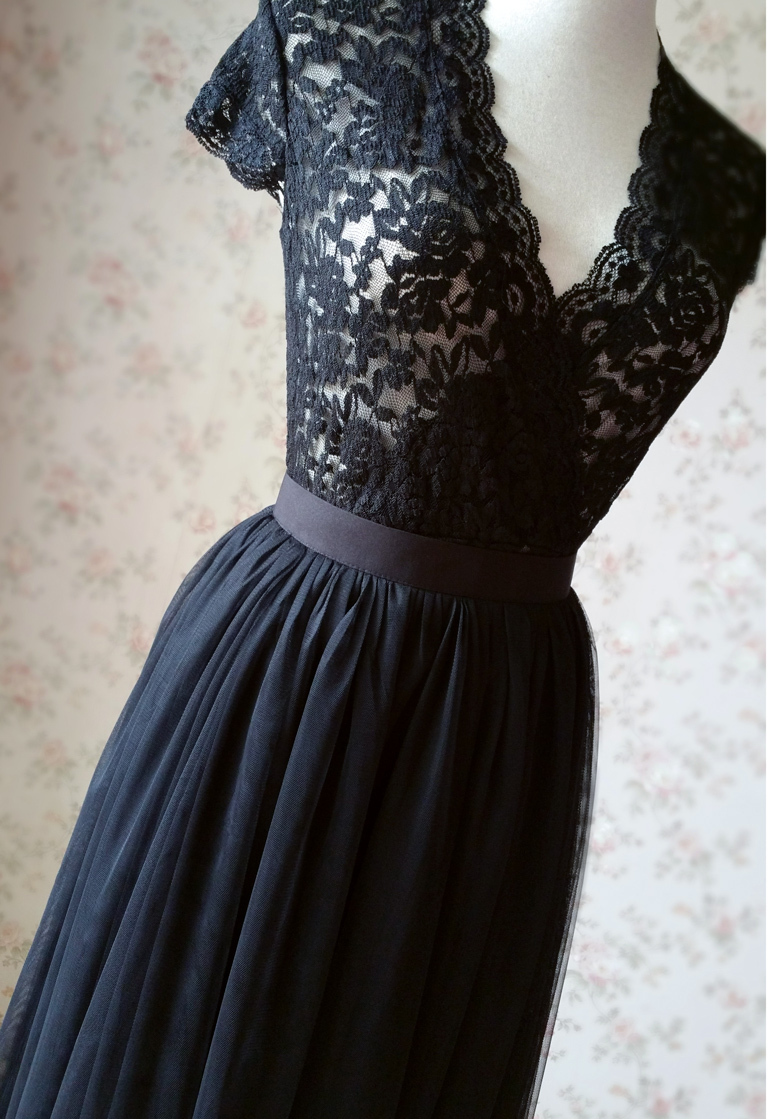 Black tulle skirt 4