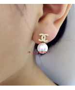 CC Top 14K GOLD 10-11MM NATURAL real round SOUTH SEA white PEARL EARRINGS - $499.52