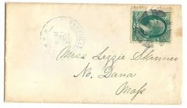 1878 Gilbertville IA Vintage Post Office Postal Cover - $9.95