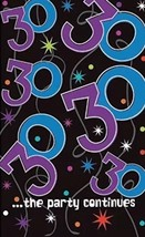 "30th BIRTHDAY PLASTIC TABLE COVER 54""x102"" 38.3 Sq Ft Party Supplies Dec... - $3.95"