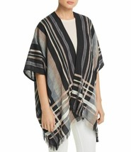 Echo Poolside Plaid Open Scarf (Black, One Size) - $47.40