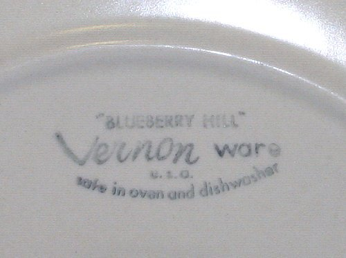 Vernonware Blueberry Hill 2 Dinner Plates