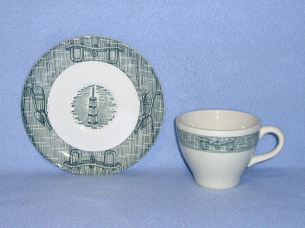Royal USA RYL112 Green 4 Cups and 3 Saucers  Farm Tools