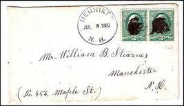 1882 Henniker NH Vintage Post Office Postal Cover - $9.95