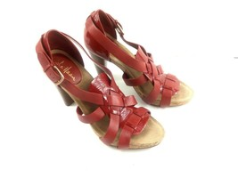 Cole Haan Women's Sandals Jocelyn Strappy Gladiator Red Leather Platform... - $34.47
