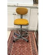Vintage CRAMER Mid Century Industrial Office Swivel Desk Chair Drafting ... - $173.25