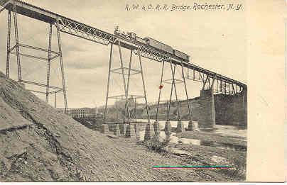 R and O Railroad Bridge Rochester New York post card
